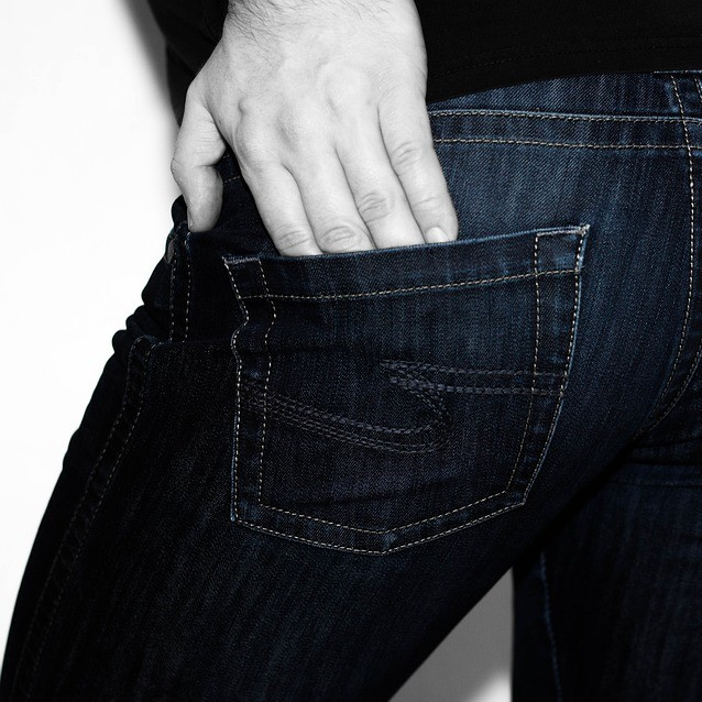 Hand in back pocket of jeans